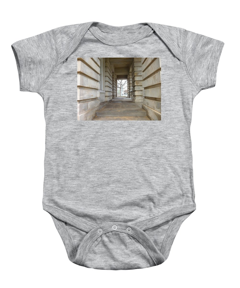 Tree Baby Onesie featuring the photograph Open Tunnel by Anita Goel