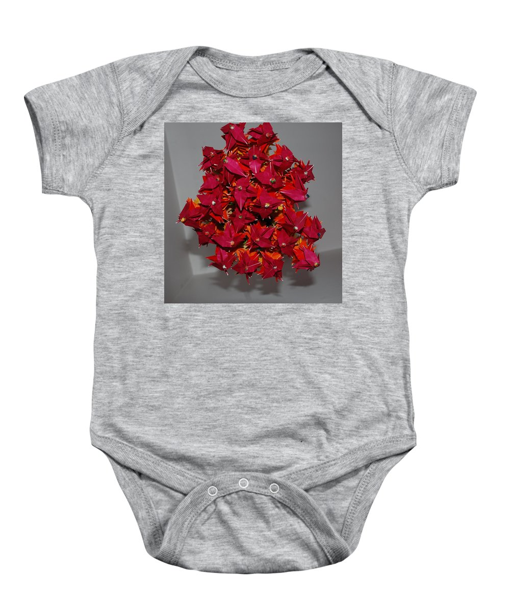 Origami Baby Onesie featuring the photograph Origami Flowers by Rob Hans