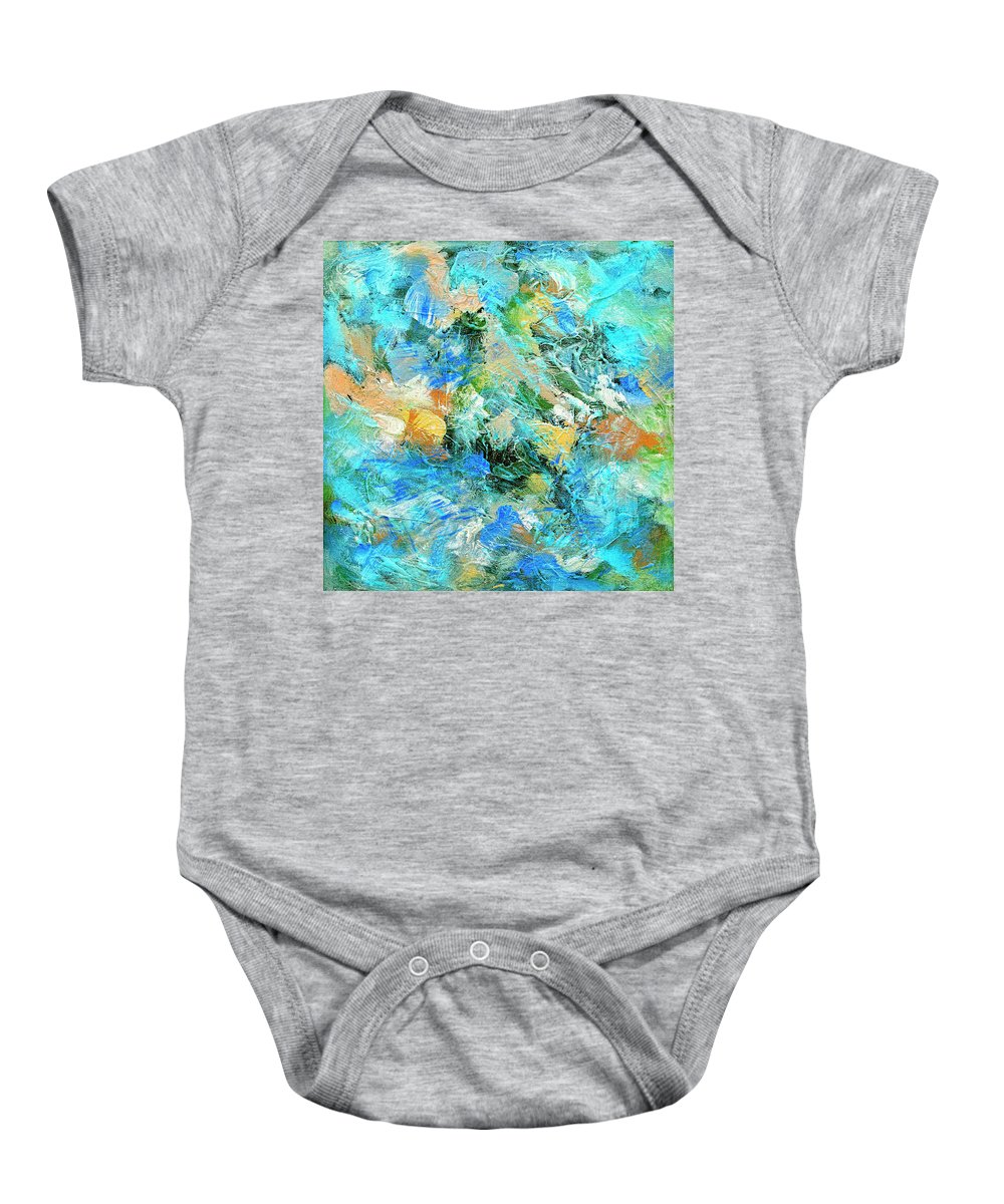 Abstract Baby Onesie featuring the painting Orinoco by Dominic Piperata