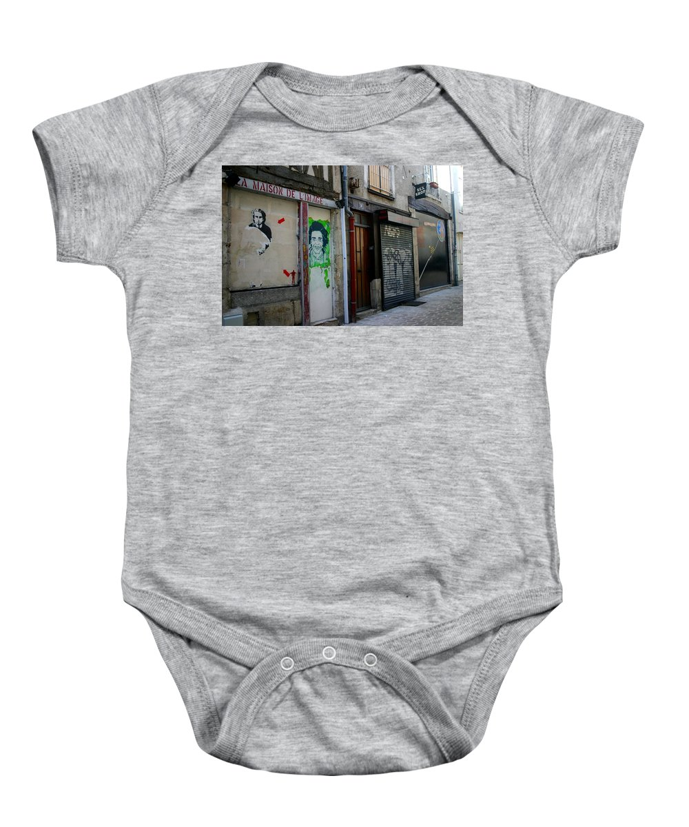 Alley Baby Onesie featuring the photograph Orleans France Alley by Minaz Jantz