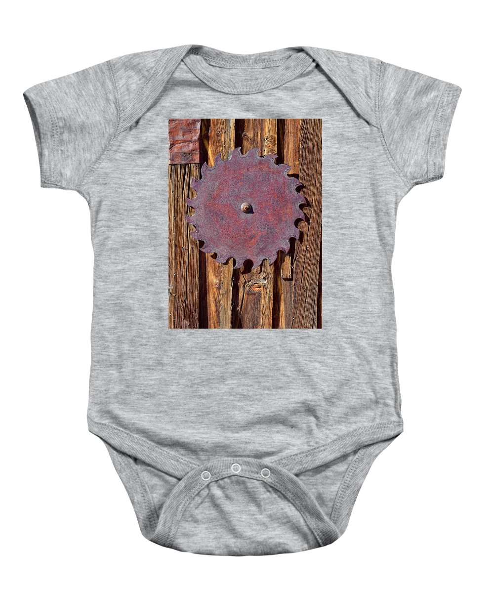 Saw Blade Baby Onesie featuring the photograph Ornamental by Kelley King