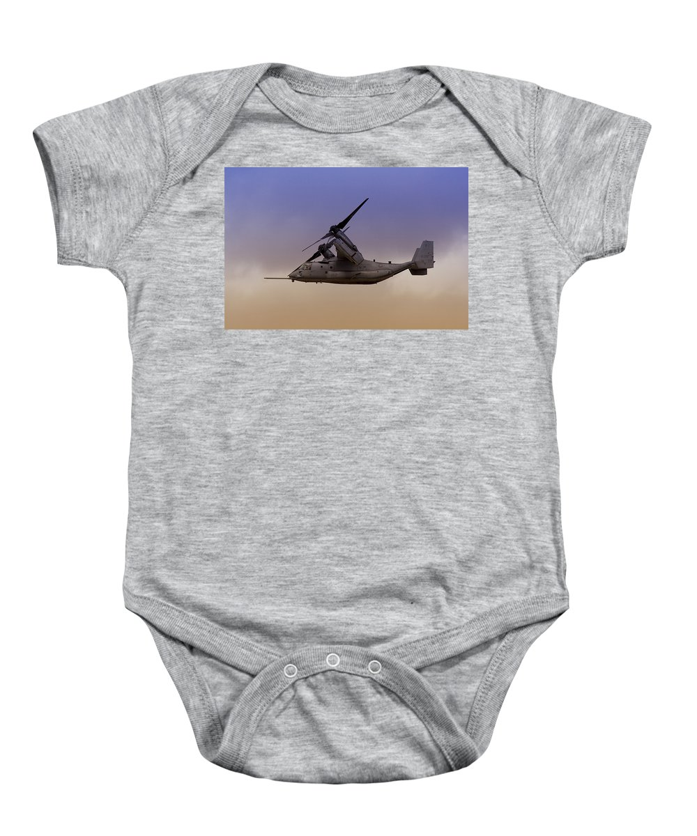 Advanced Baby Onesie featuring the photograph Osprey In Flight IIi by Ricky Barnard