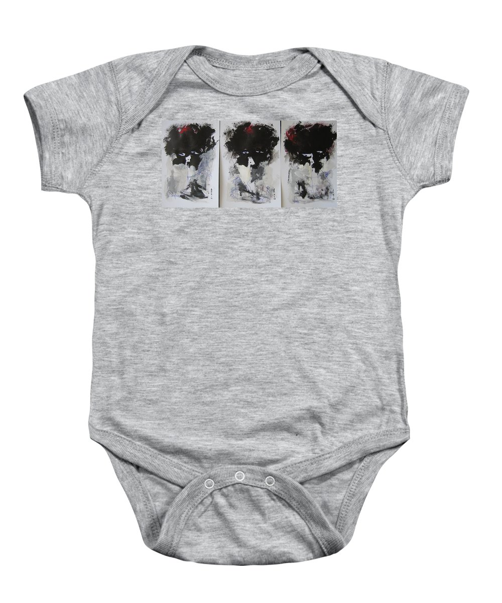Original Baby Onesie featuring the painting Other Than 3 by Seon-Jeong Kim