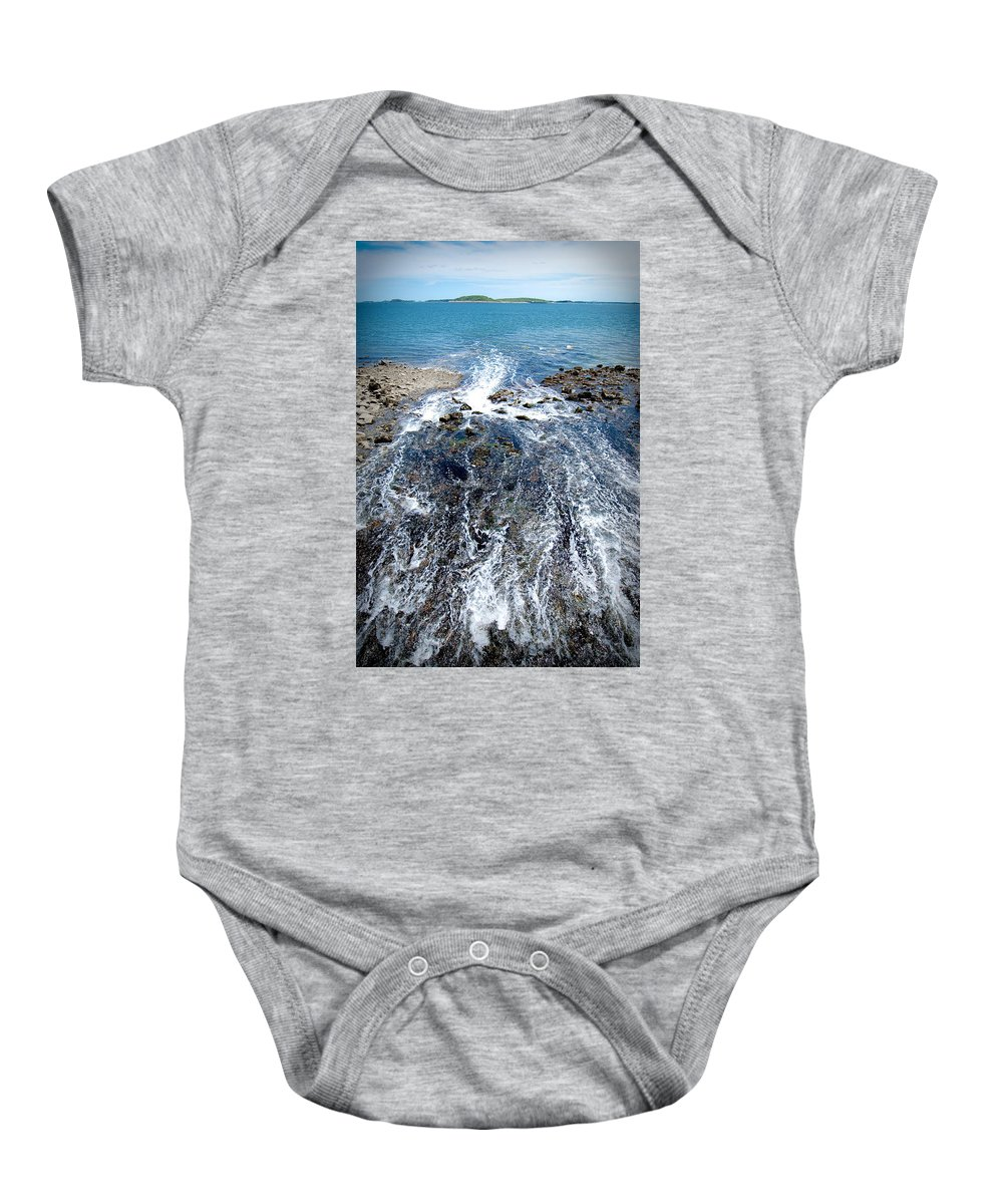 Ocean Baby Onesie featuring the photograph Out To Sea by Greg Fortier