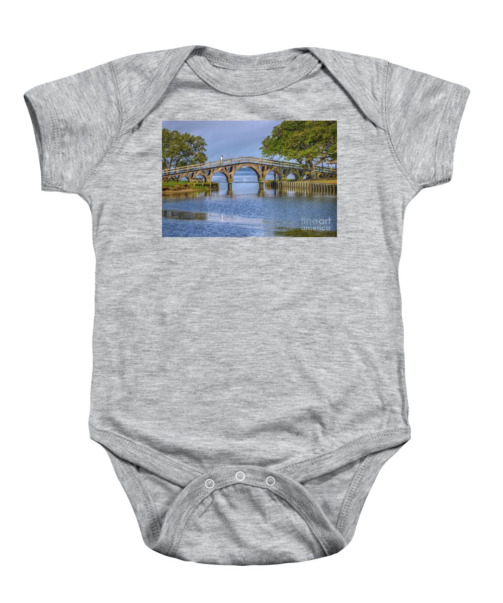 Summer Baby Onesie featuring the photograph Outer Banks Whalehead Club Bridge by Randy Steele