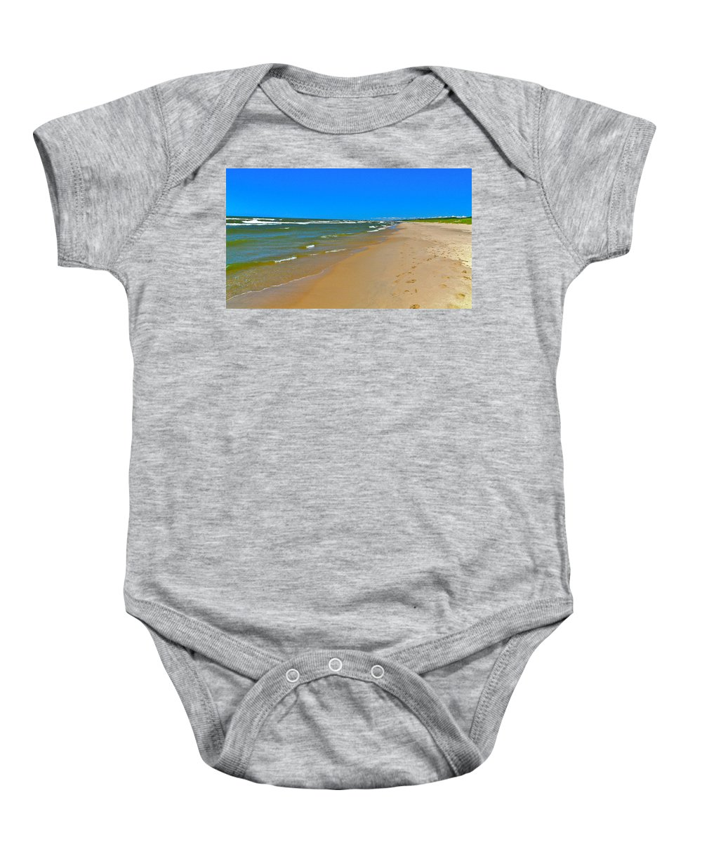 Sand Baby Onesie featuring the photograph Oval Park In The Sun by Robert Pearson
