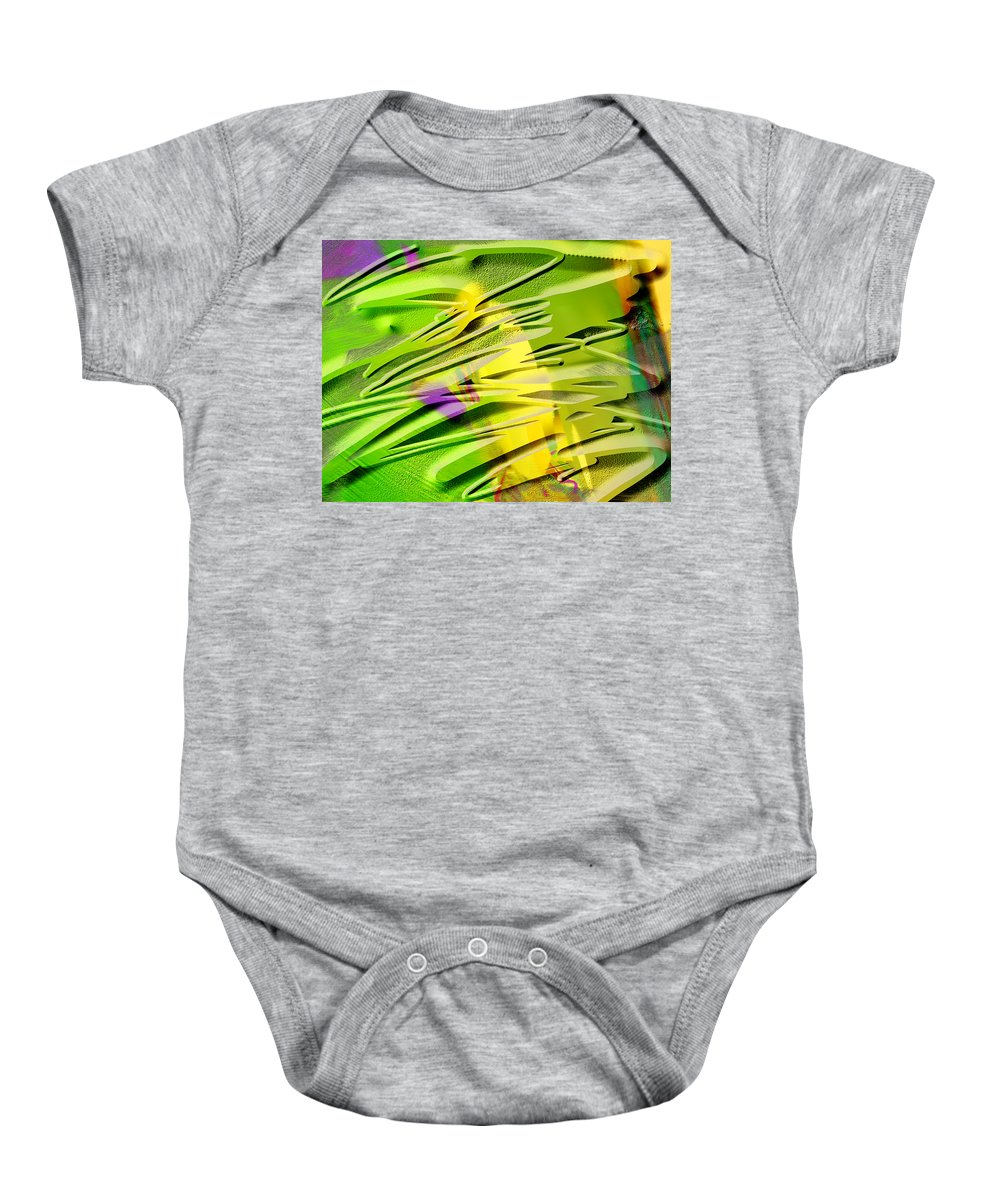 Scott Piers Baby Onesie featuring the painting P39b by Scott Piers