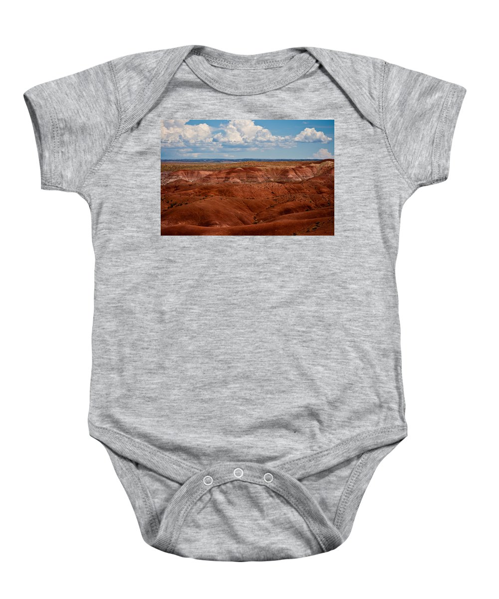 Painted Baby Onesie featuring the photograph Painted Desert #4 by Robert J Caputo