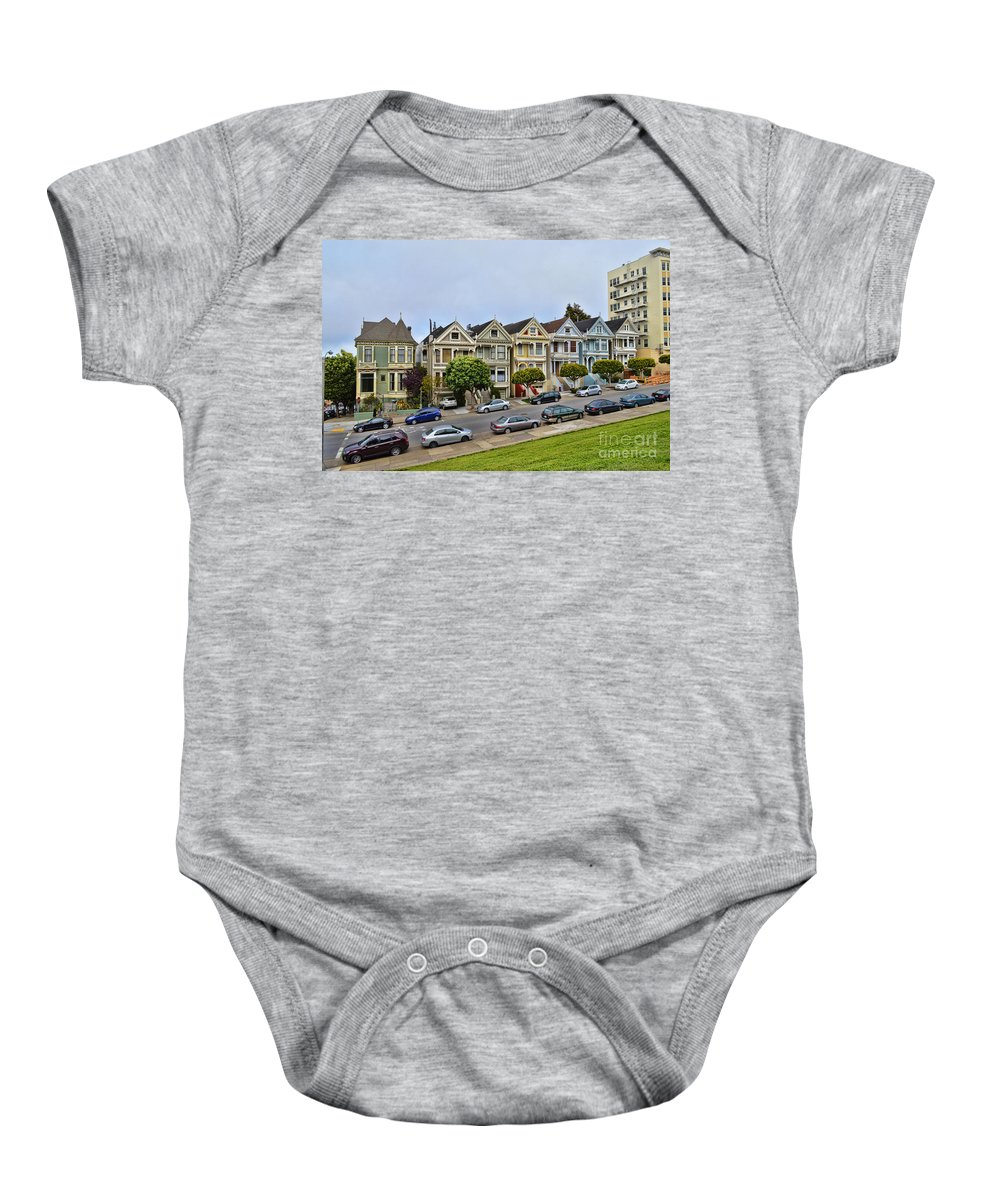 Painted Ladies Baby Onesie featuring the photograph Painted Ladies by Tommy Anderson