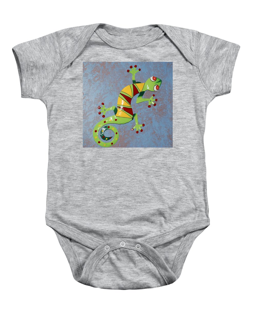 Southwestern Art Baby Onesie featuring the photograph Painted Liz by Rob Hans