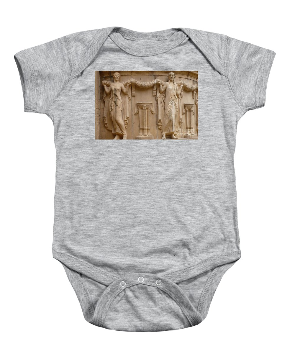 San Francisco Baby Onesie featuring the photograph Palace Of Fine Arts Ladies by Carol Groenen