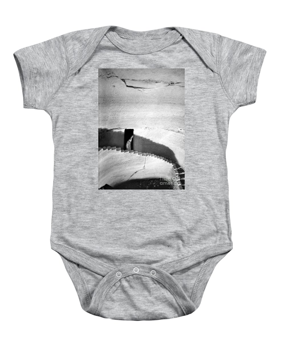 1910s Baby Onesie featuring the photograph Palestine: Cave by Granger