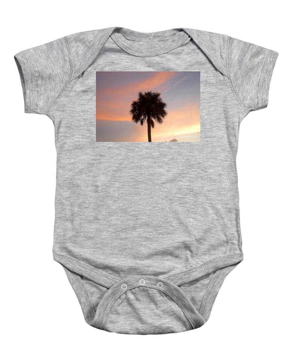 Palm Tree Baby Onesie featuring the photograph Palm Sky by David Lee Thompson