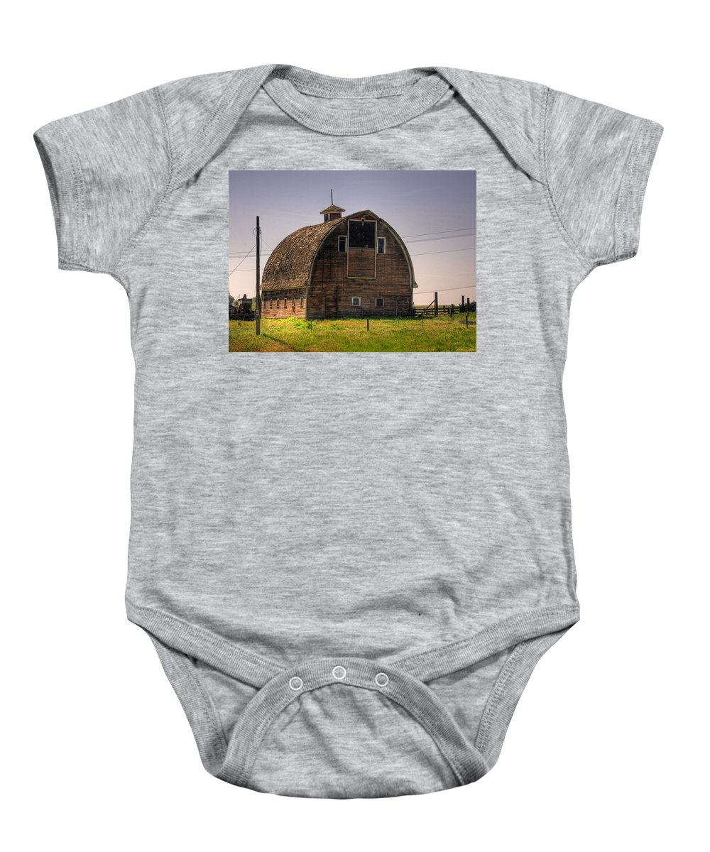 Palouse Baby Onesie featuring the photograph Palouse Barn by Lee Santa