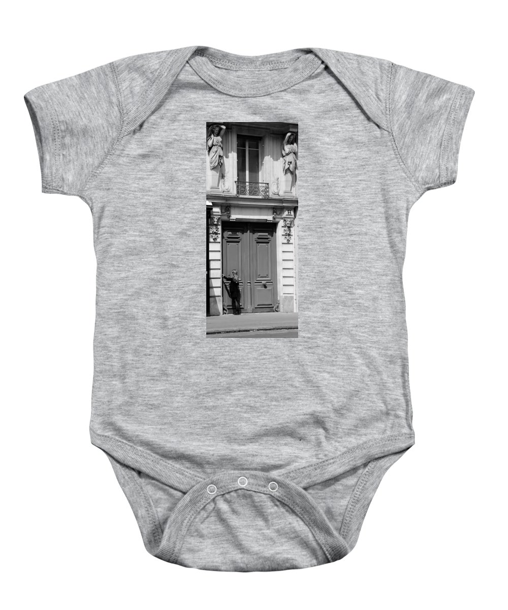 Streets Of Paris Baby Onesie featuring the photograph Paris Street Life 3b by Andrew Fare