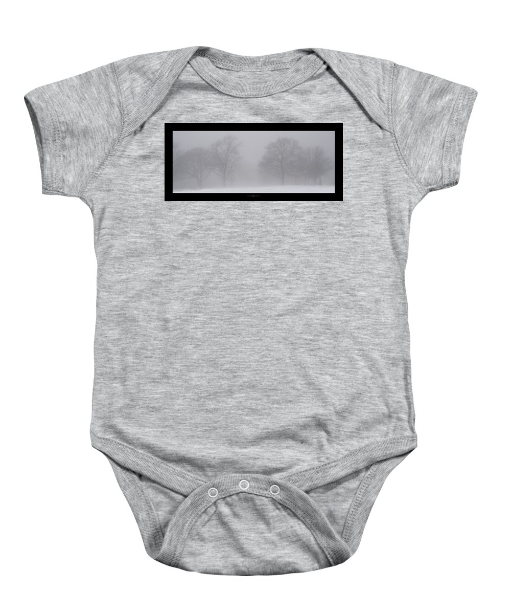 Fog Baby Onesie featuring the photograph Park In Winter Fog by Tim Nyberg