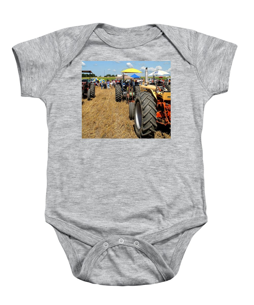 Tractors Baby Onesie featuring the photograph Parking For Lunch by Ian MacDonald