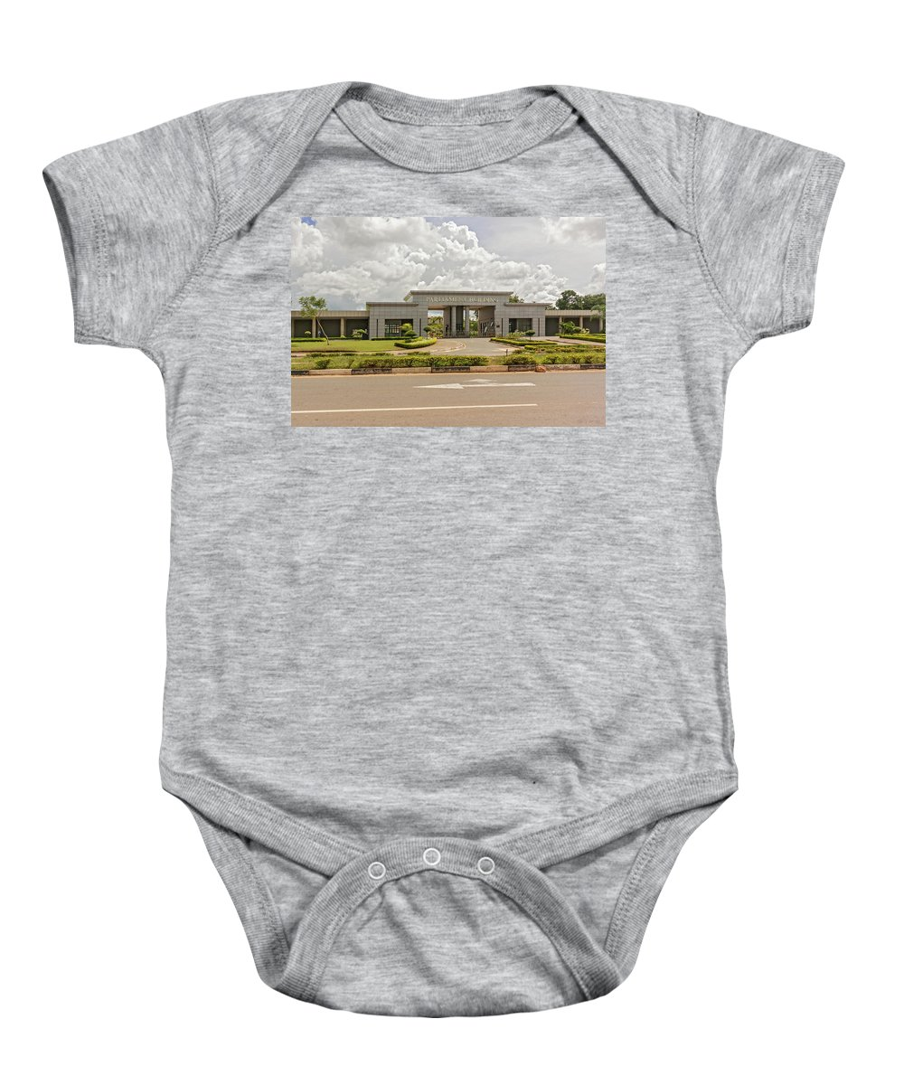 Capital Baby Onesie featuring the photograph Parliament Building In Lilongwe by Marek Poplawski