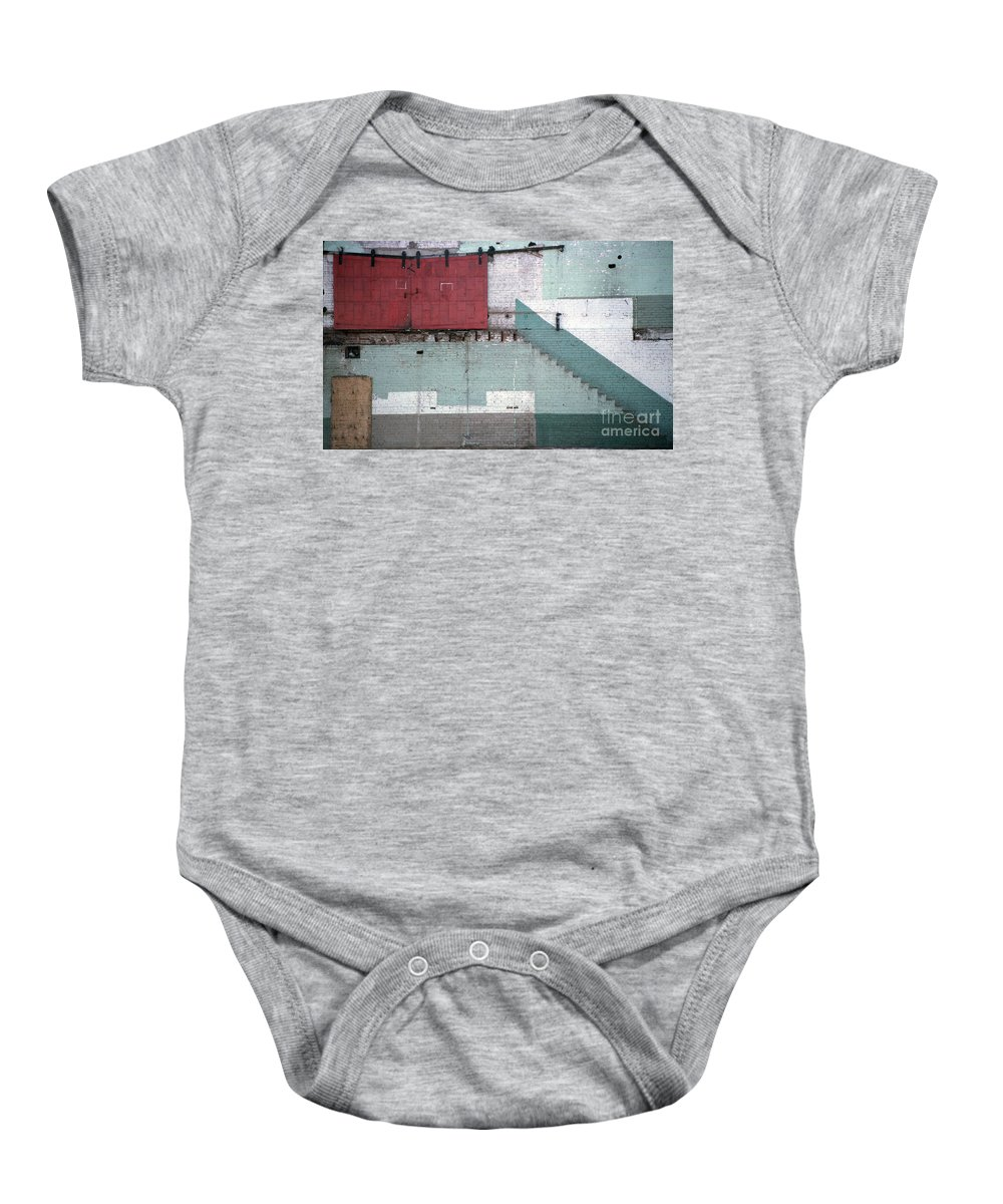 Abstract Baby Onesie featuring the photograph Partial Demolition by Richard Rizzo