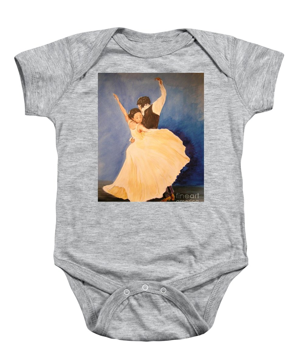 Spain Baby Onesie featuring the painting Pasion Gitana by Lizzy Forrester