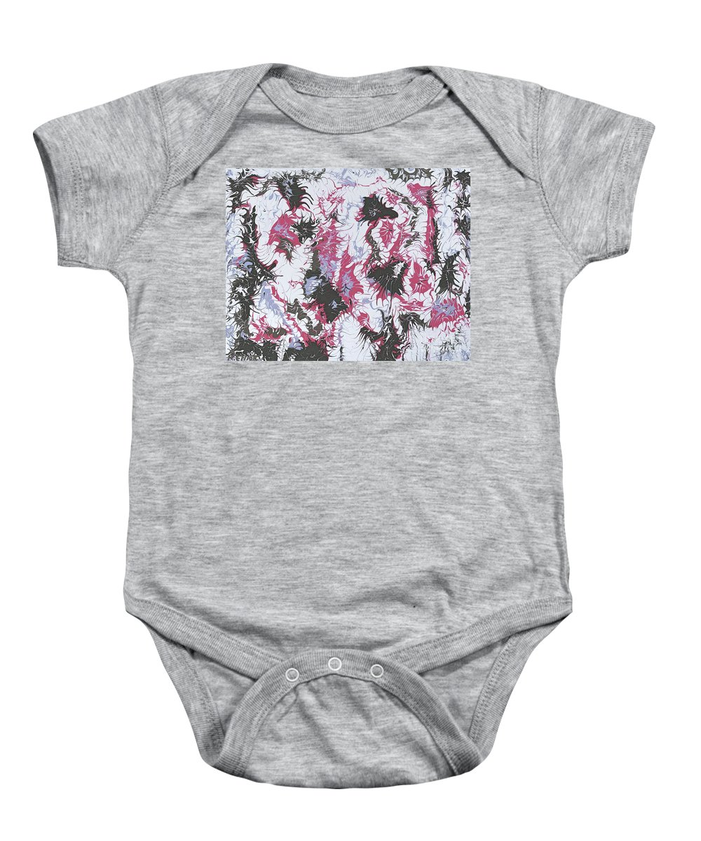 Keith Elliott Baby Onesie featuring the painting Passion Party - V1do100 by Keith Elliott