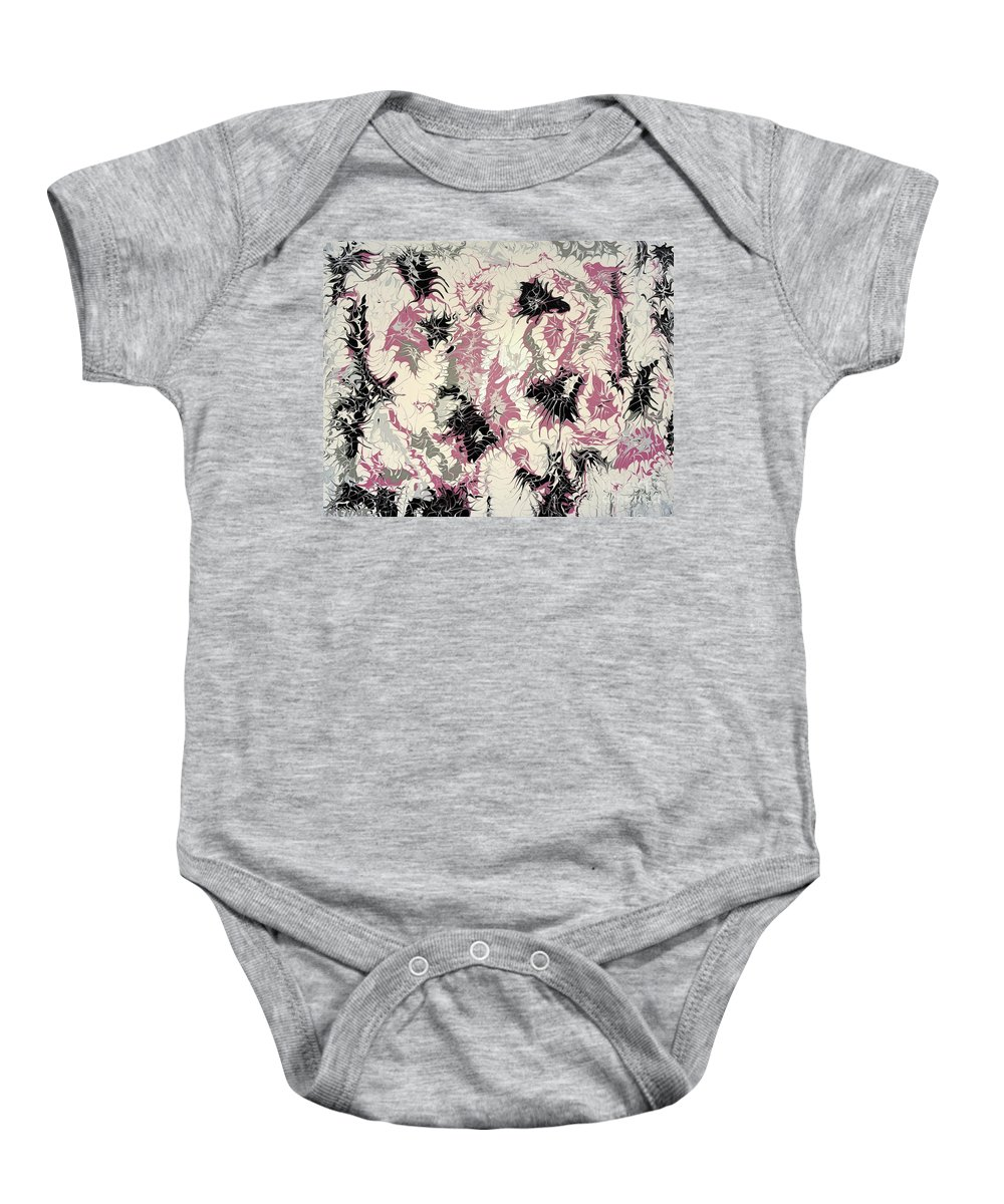 Keith Elliott Baby Onesie featuring the painting Passion Party - V1vs50 by Keith Elliott