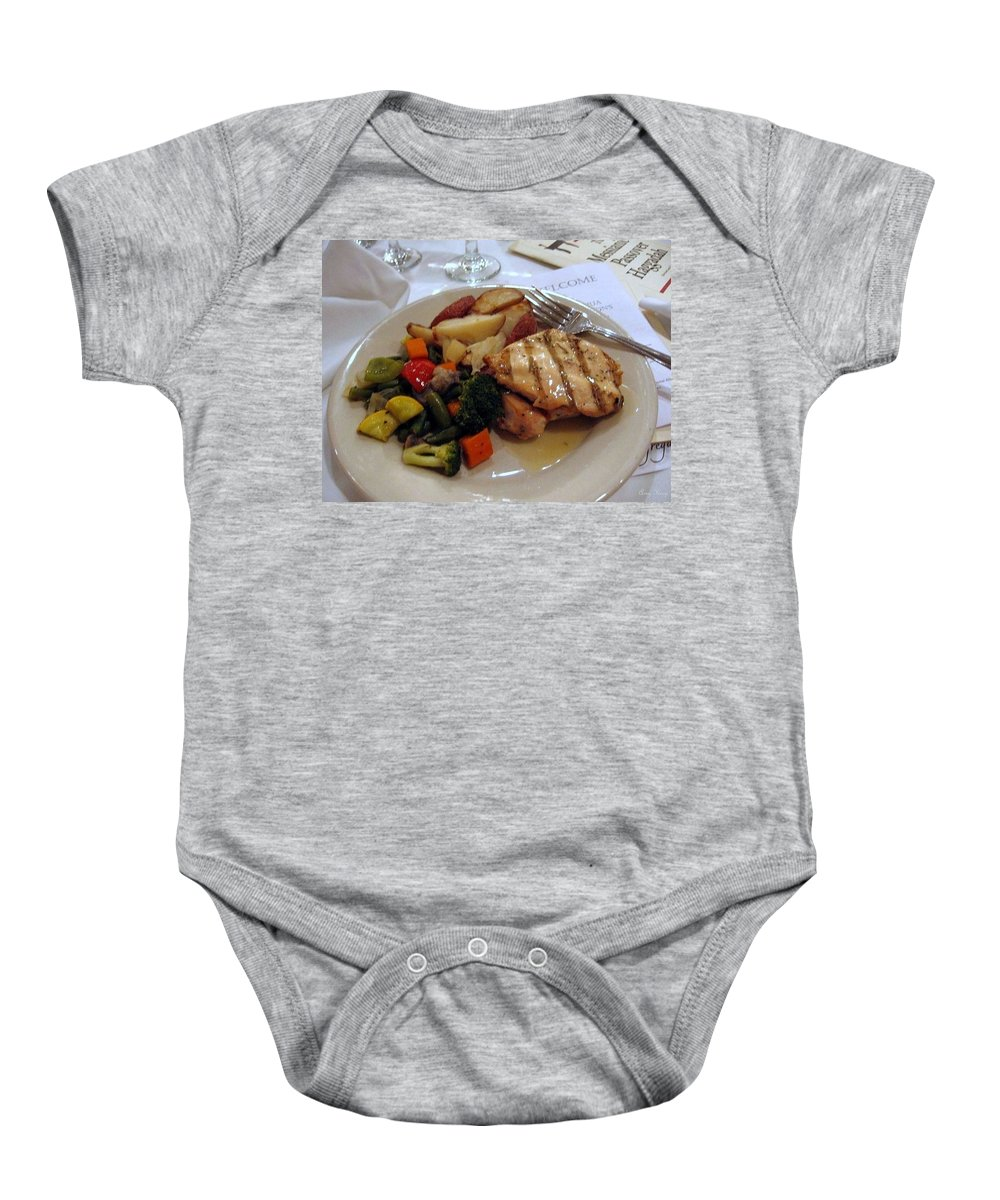 Passover Meal Baby Onesie featuring the photograph Passover Meal by Amy Hosp