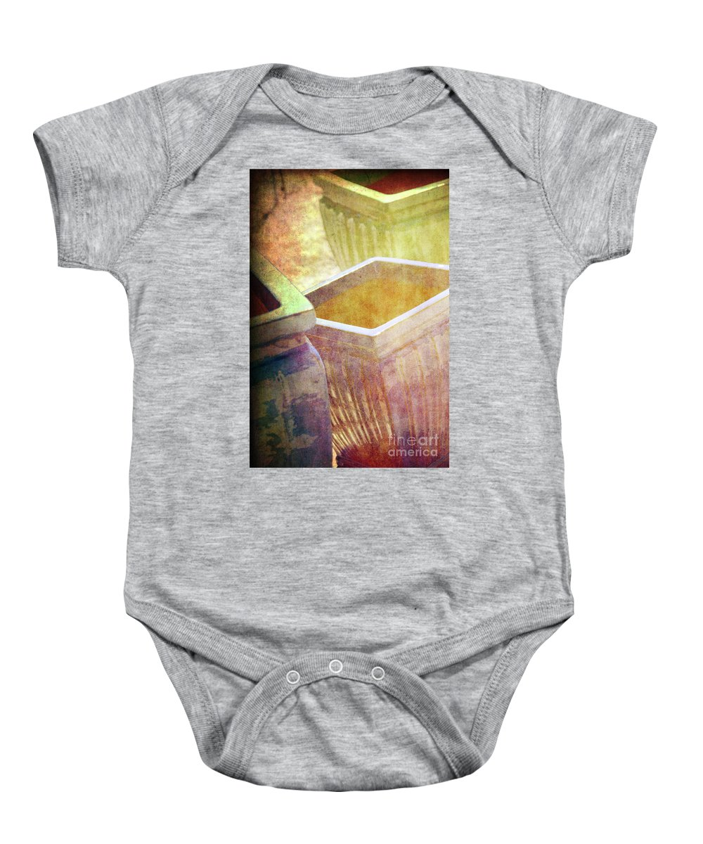 Pottery Baby Onesie featuring the photograph Pastel Pottery by Susanne Van Hulst