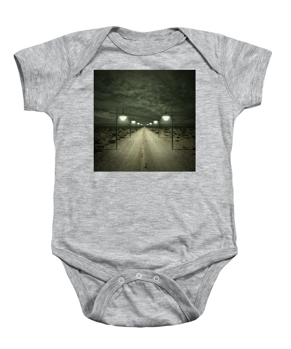 Dark Baby Onesie featuring the digital art Path by Zoltan Toth