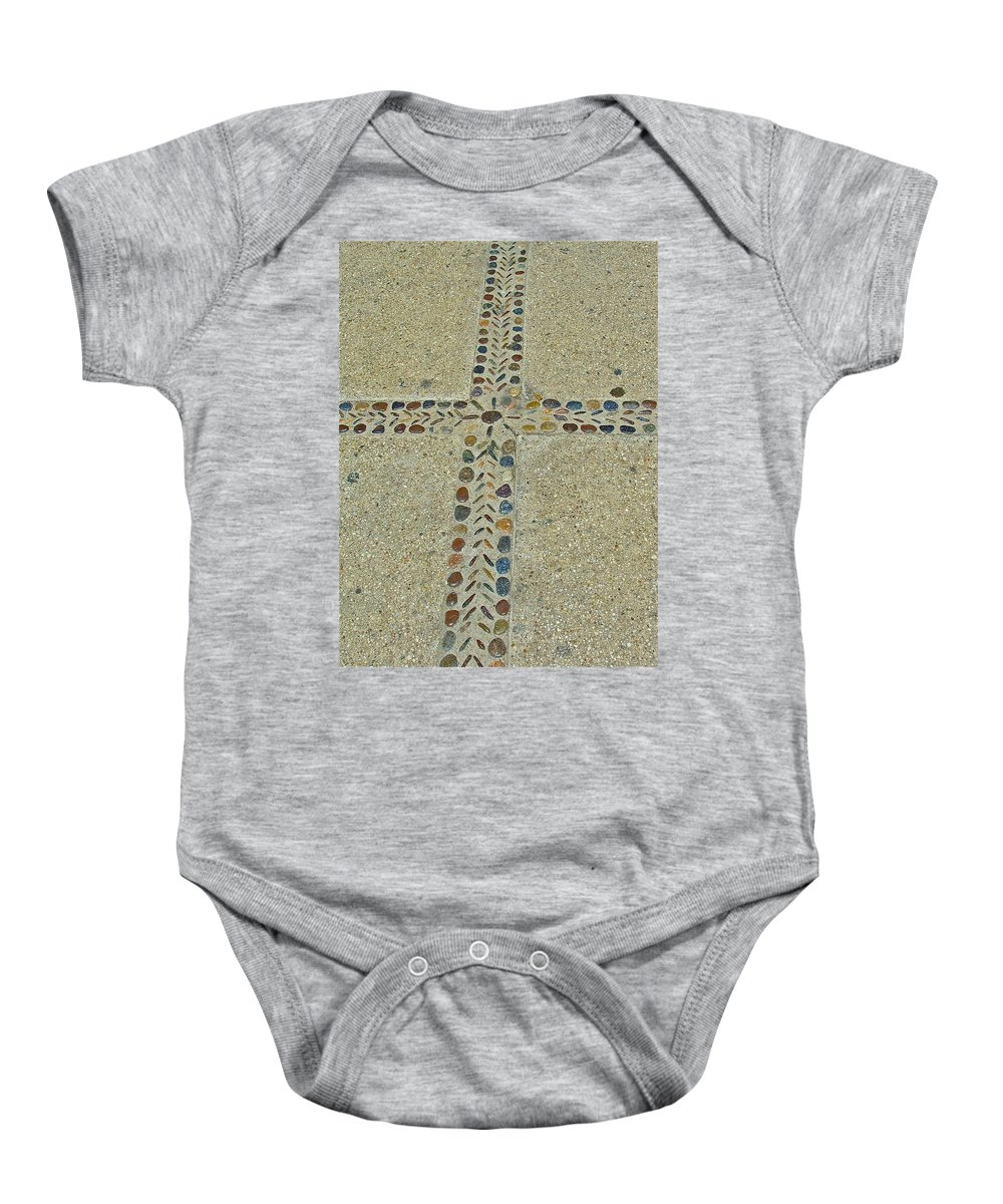 Cross Baby Onesie featuring the photograph Patience by Diana Hatcher