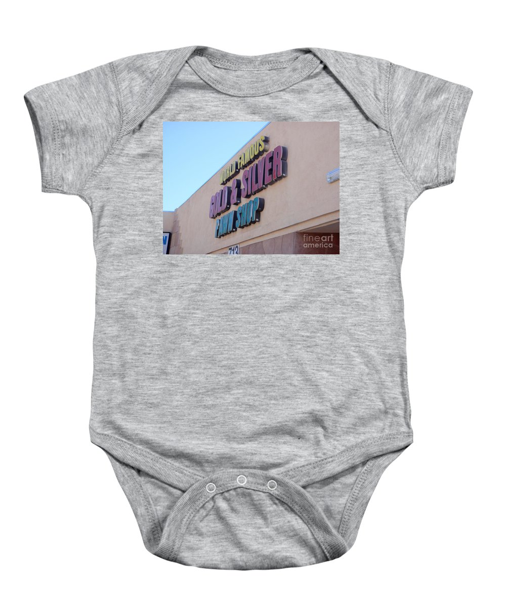 Pawn Stars Baby Onesie featuring the photograph Pawn Stars Shop - Las Vegas Nevada by Mary Deal