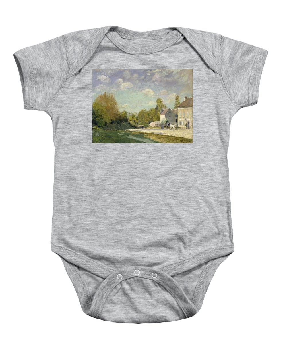 Paysage Baby Onesie featuring the painting Paysage by Alfred Sisley