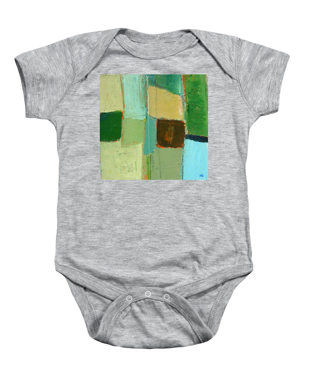 Baby Onesie featuring the painting Peace 2 by Habib Ayat