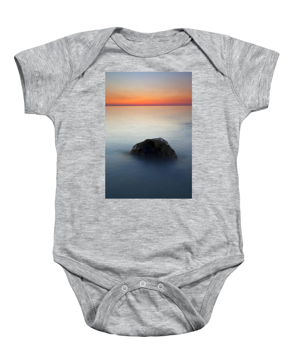 Rock Baby Onesie featuring the photograph Peaceful Isolation by Mike Dawson