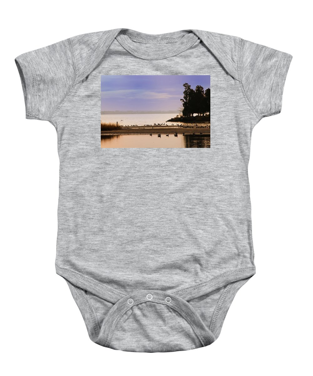 Chesapeake Baby Onesie featuring the photograph Peaceful Morning by Bill Cannon