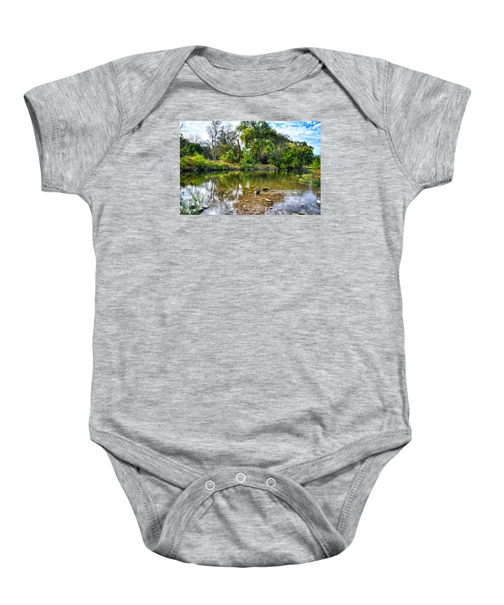 Cibolo Creek Baby Onesie featuring the photograph Peaceful Morning On Cibolo Creek by Lynn Bauer