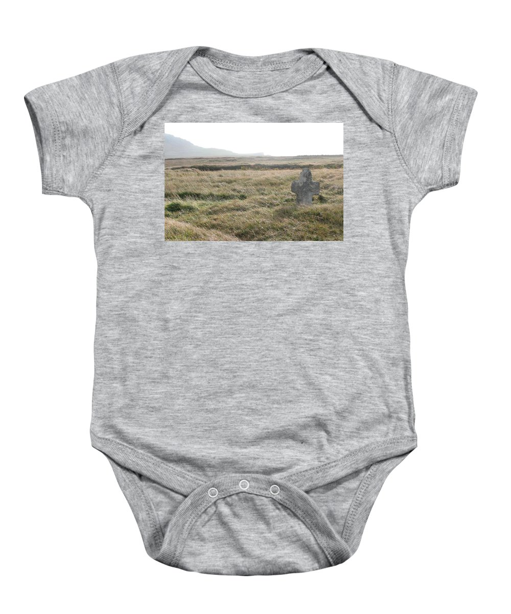 Midievil Baby Onesie featuring the photograph Peaceful Rest by Kelly Mezzapelle