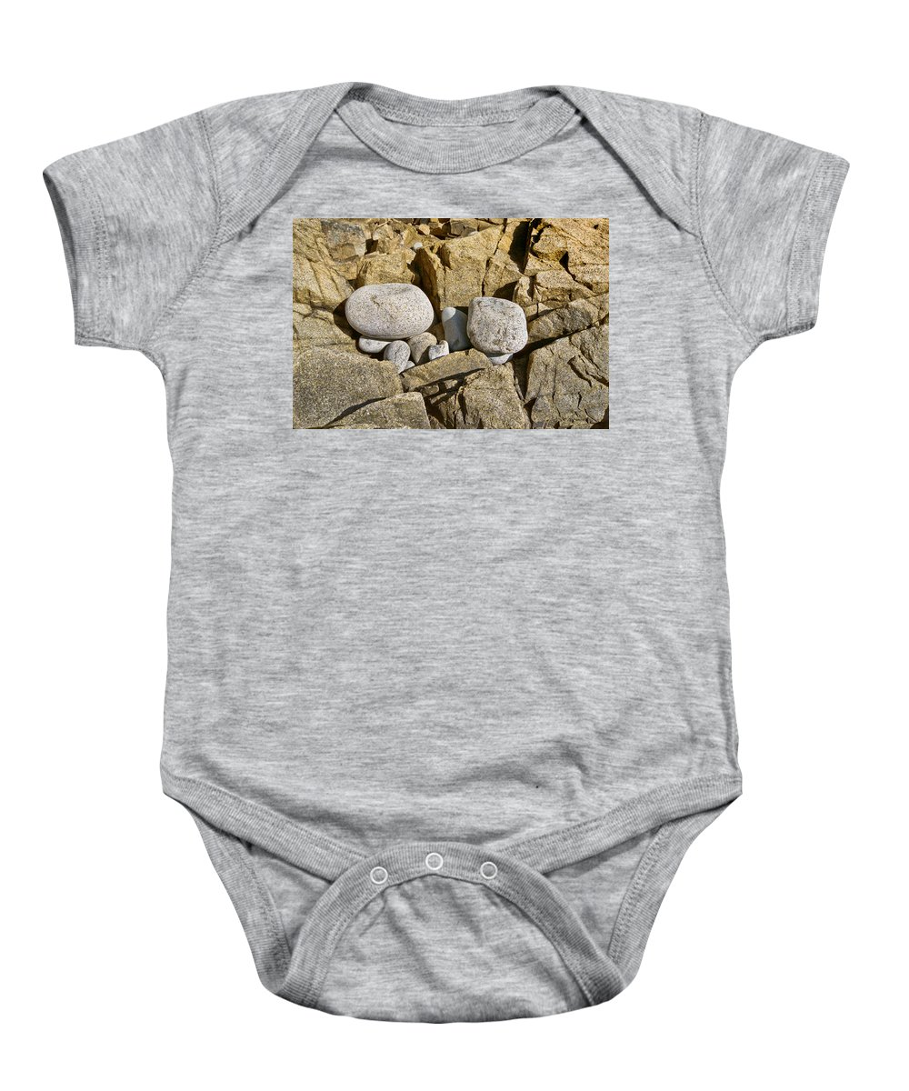 Rocks Baby Onesie featuring the photograph Pebble Pocket Photo by Peter J Sucy