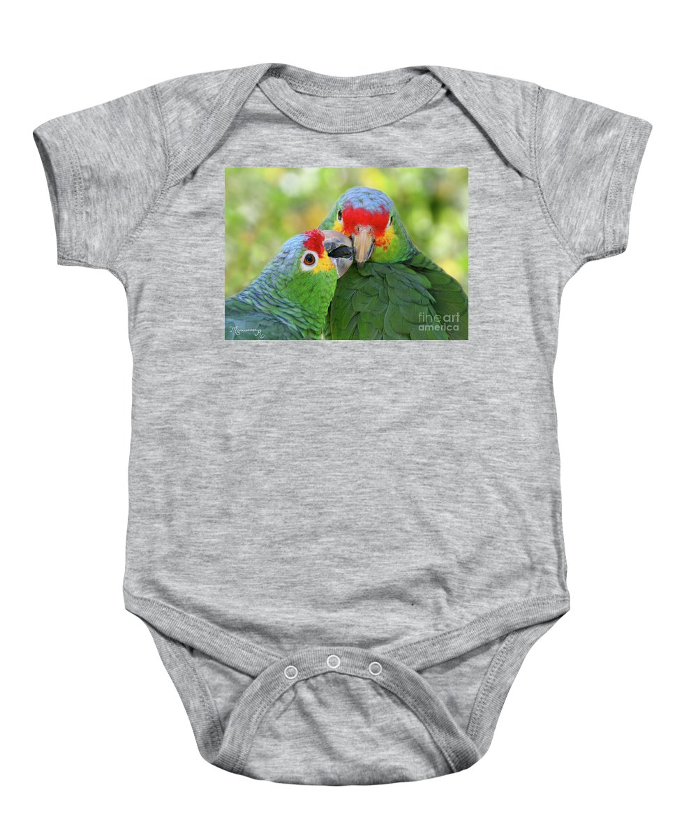 Fauna Baby Onesie featuring the photograph Pecking Order by Mariarosa Rockefeller