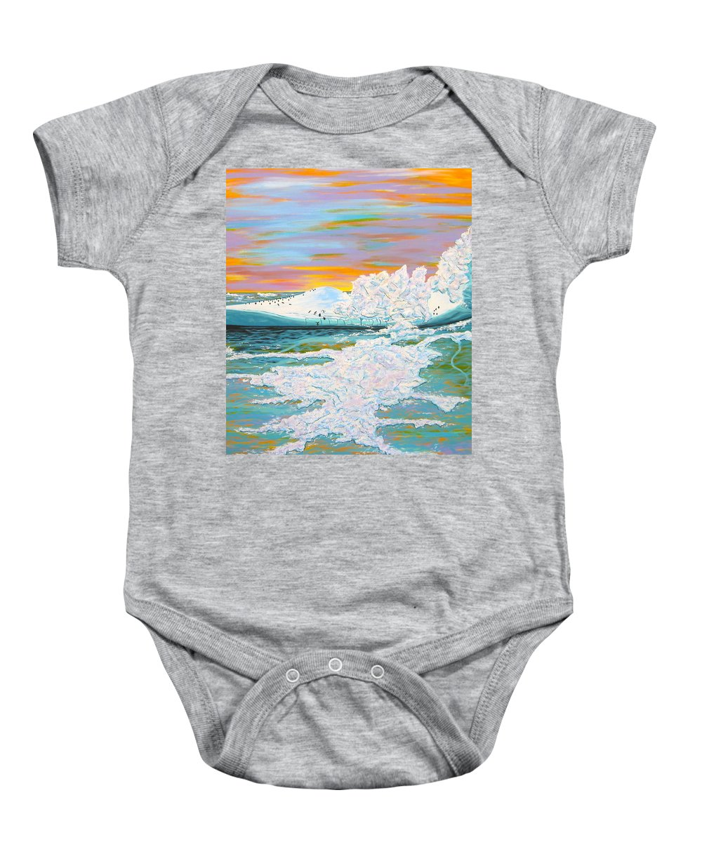 Ice Baby Onesie featuring the painting The Last Iceberg by V Boge