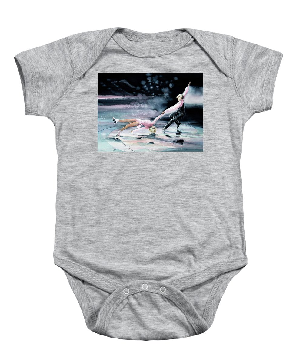 Sports Art Baby Onesie featuring the painting Perfect Harmony by Hanne Lore Koehler