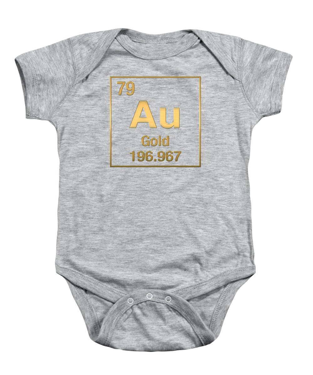 Periodic table of elements gold au gold on gold onesie for the elements collection by serge averbukh baby onesie featuring the digital art periodic table gamestrikefo Images