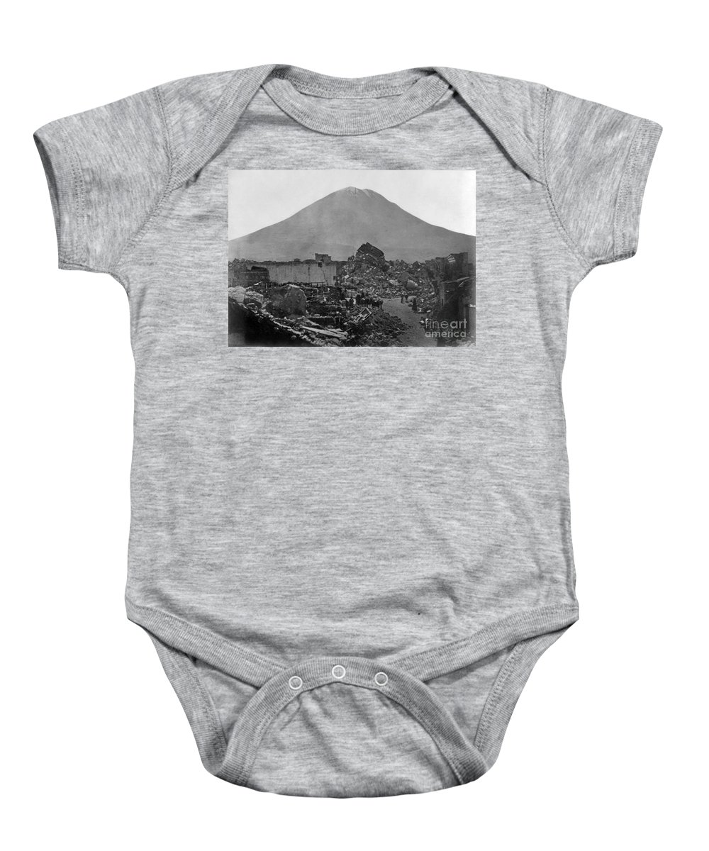 1868 Baby Onesie featuring the photograph Peru: Earthquake by Granger