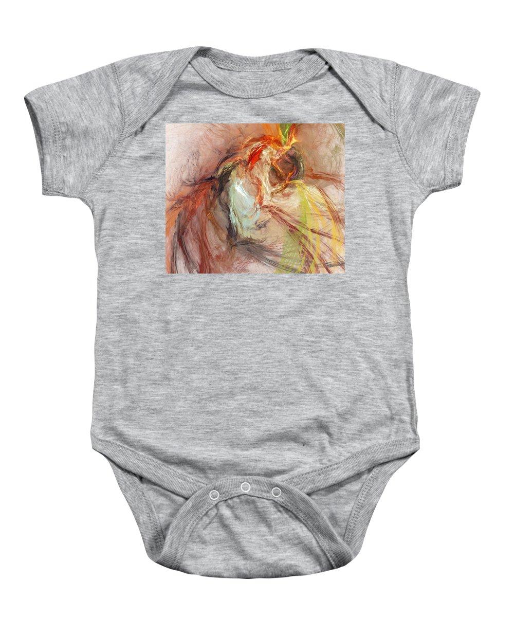 Fine Art Baby Onesie featuring the digital art Petit Mal by David Lane