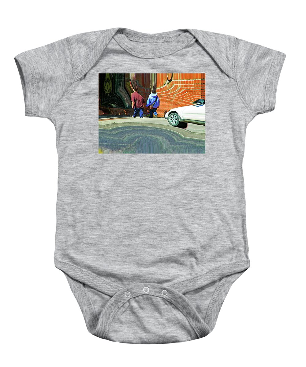 Abstract Baby Onesie featuring the photograph Photographer Couldn't Resist by Lenore Senior