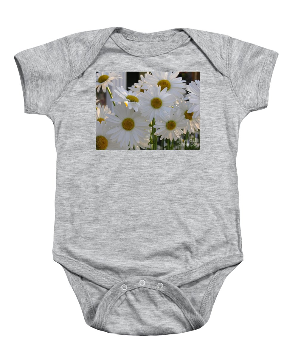 Dasiy Baby Onesie featuring the photograph Pick Me by Diane Greco-Lesser