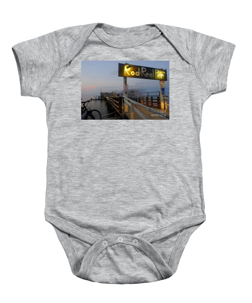 Fishing Pier Baby Onesie featuring the photograph Pier Group by David Lee Thompson