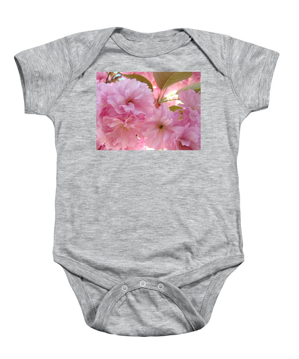 Blossom Baby Onesie featuring the photograph Pink Blossoms Art Prints Spring Tree Blossoms Baslee Troutman by Baslee Troutman