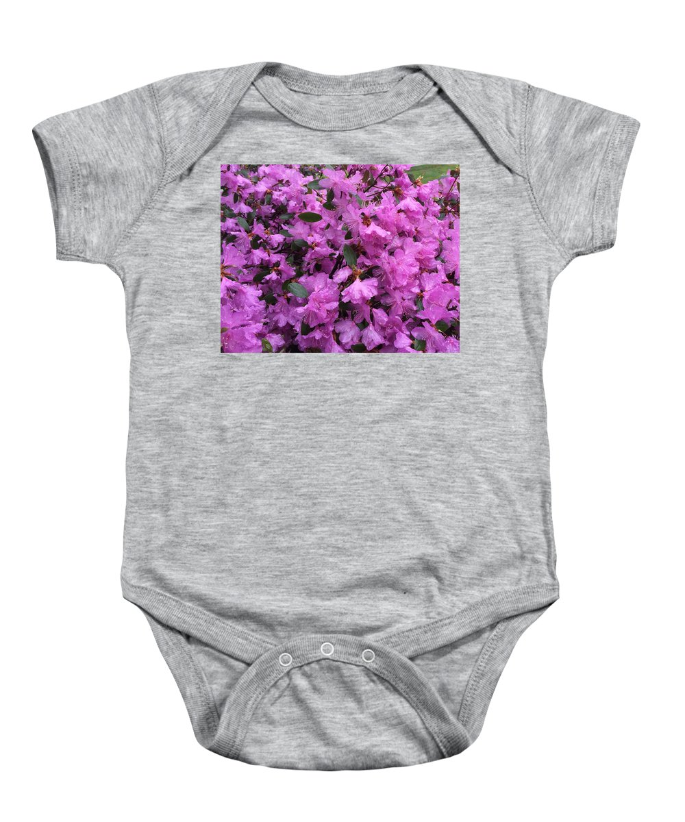 Flower Baby Onesie featuring the photograph Pink Flowers by Sabina Trzebna