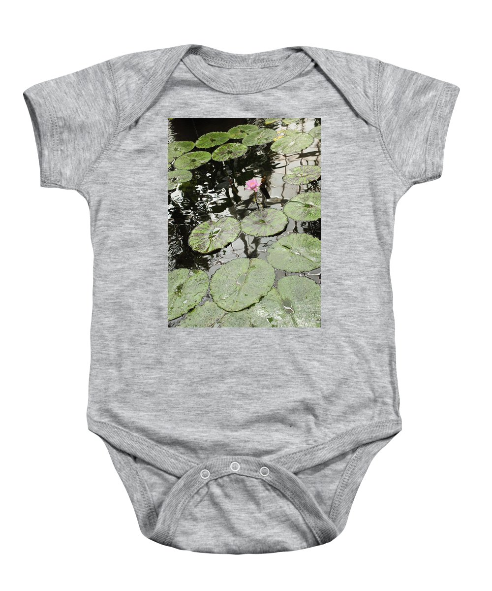 Ond Baby Onesie featuring the photograph Pink Water Lily by Carol Groenen